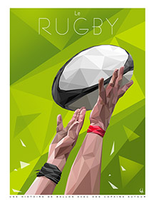 RUGBY, deux mains, Ref. A4