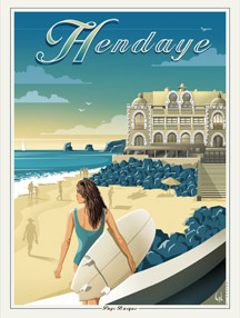 HENDAYE, surfeuse casino, Ref. A39